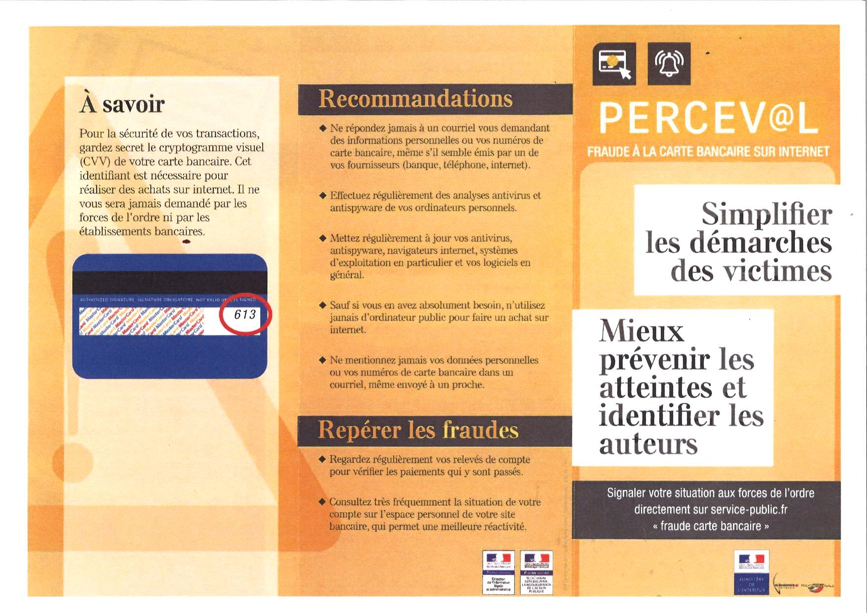 perceval@l fraude carte bancaire Fraude à la carte bancaire : simplifier les démarches des victimes